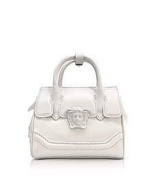 Palazzo Empire White Leather Mini Handbag - Versace