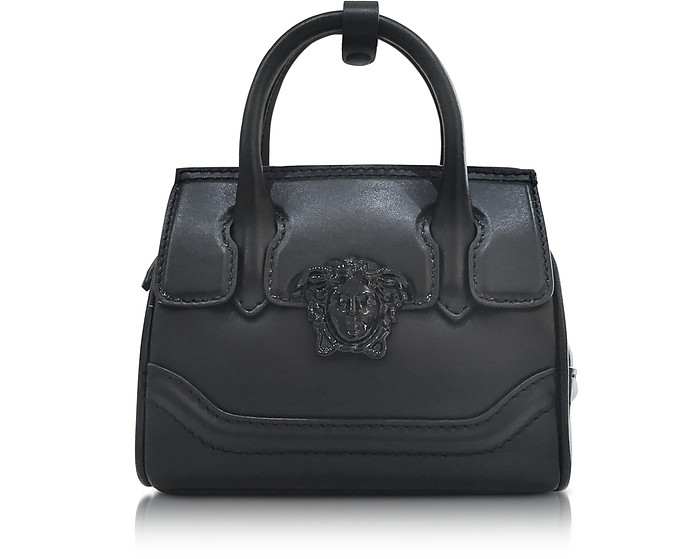 Palazzo Empire Black Leather Mini Handbag - Versace