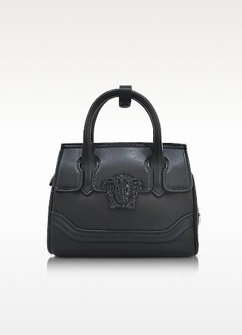 Palazzo Empire Black Leather Mini Handbag - Versace