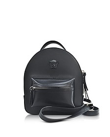 Palazzo Black Leather Mini Backpack - Versace