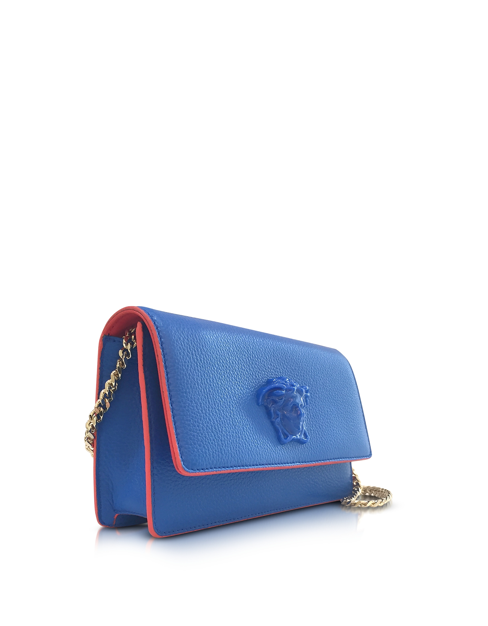 Palazzo Staten Blue Leather Evening Clutch от Forzieri.com INT