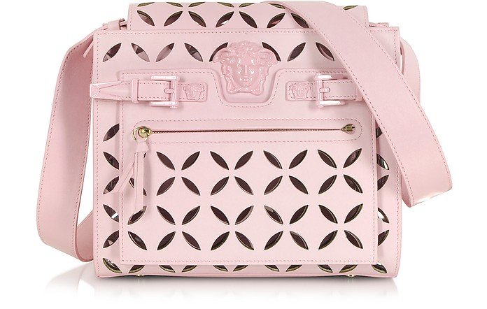 L. Palazzo Pink Nappa Leather Shoulder Bag - Versace