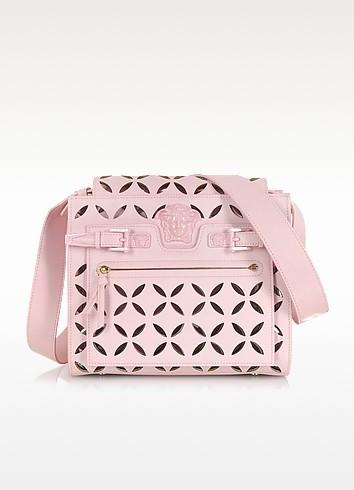 L. Palazzo Pink Nappa Leather Shoulder Bag - Versace