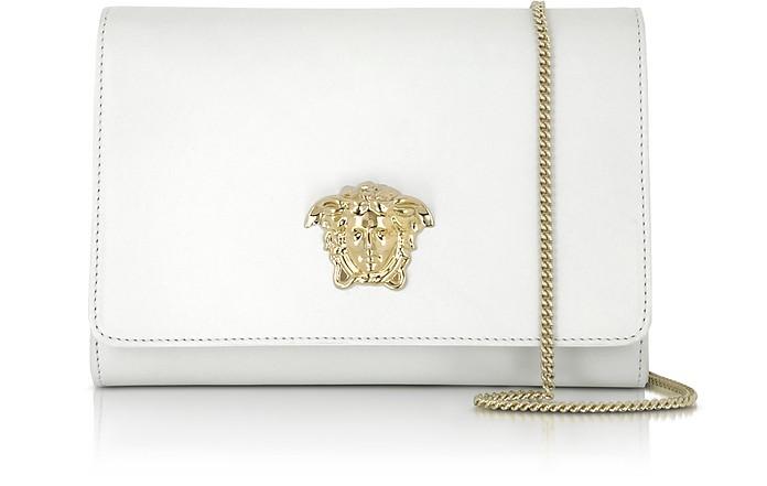 Palazzo White Leather Crossbody - Versace