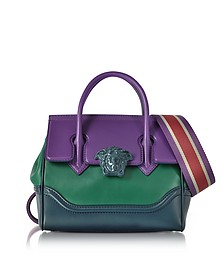 Palazzo Empire Color Block Medusa Satchel Bag - Versace
