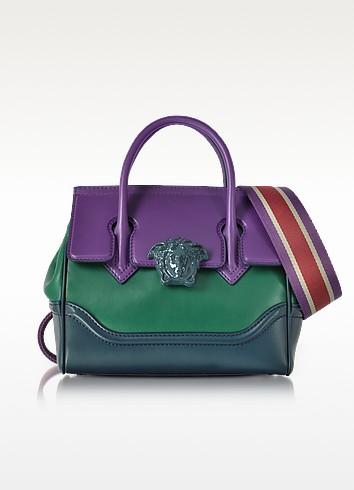 Palazzo Empire Color Block Medusa Satchel Bag - Versace