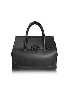 Palazzo Empire Black Leather Large Handbag - Versace