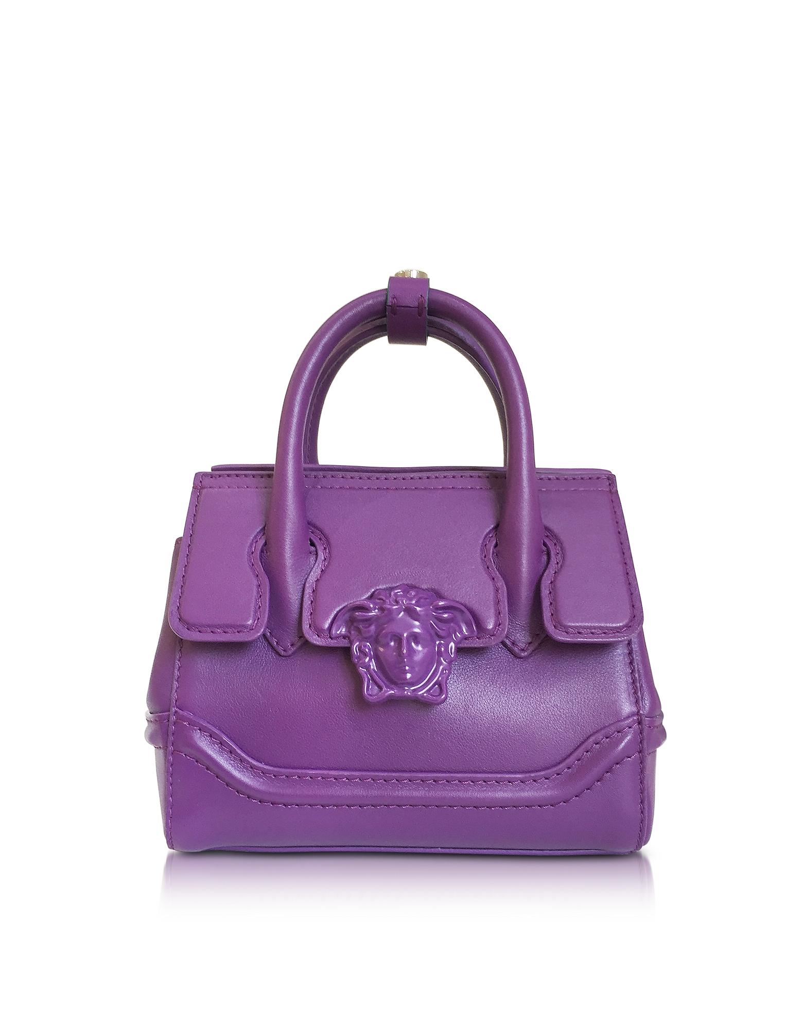 Versace Palazzo Empire Serene - Маленькая Фиолетовая Кожаная Сумка