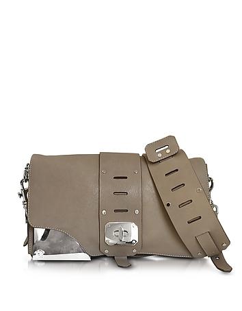 Versace - Stardust Sail Grey Leather Shoulder Bag