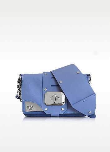 Stardust Blue Breeze Leather Mini Shoulder Bag - Versace