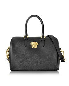 Palazzo Black Saffiano Satchel Bag - Versace
