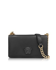 Palazzo Nappa Leather Shoulder Bag w/Medusa - Versace
