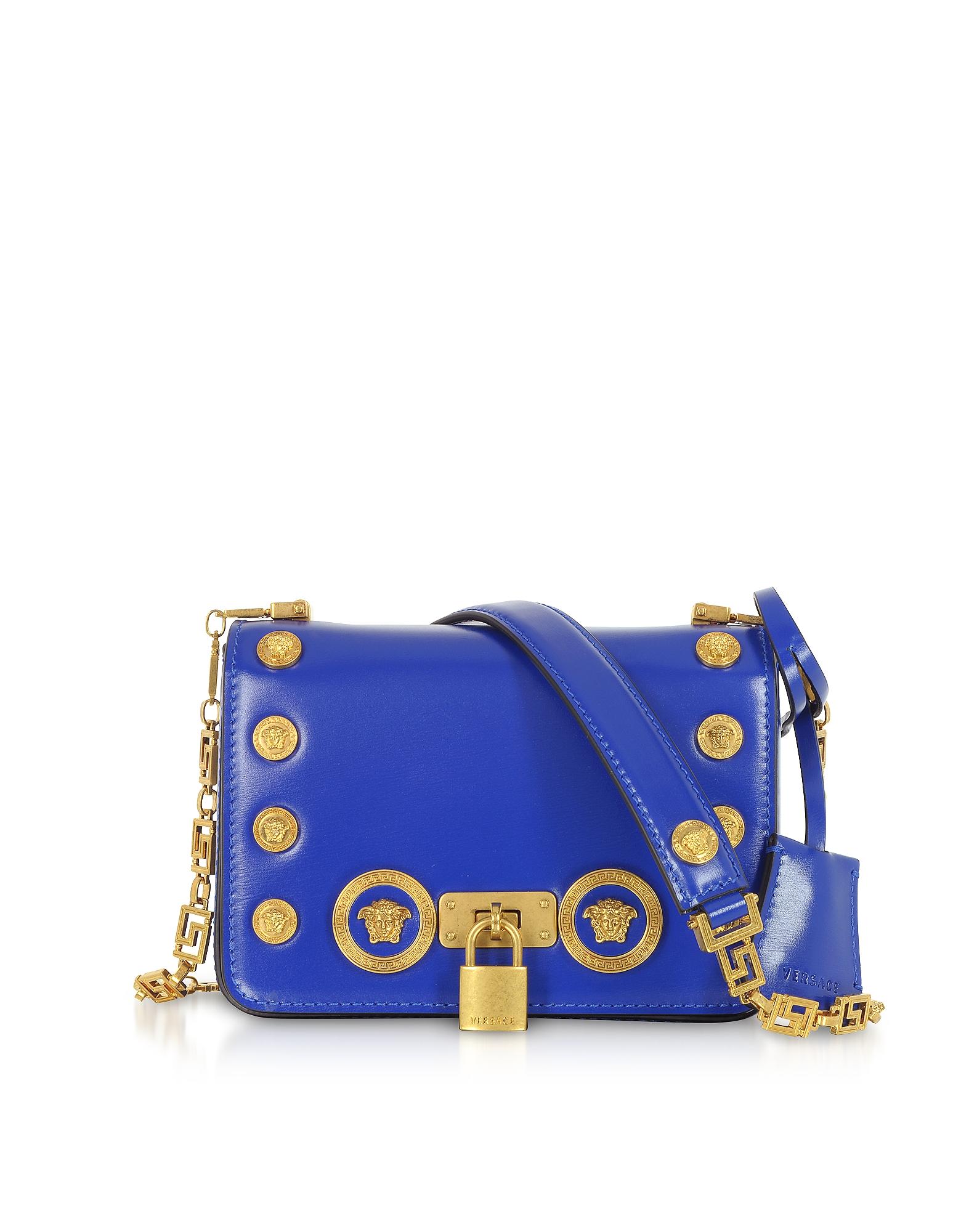 Versace Handbags, Small Icon Leather Shoulder Bag