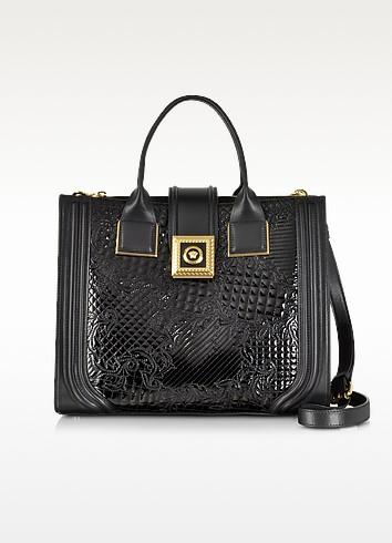 New Icon Patent Leather Microvanitas Bag - Versace
