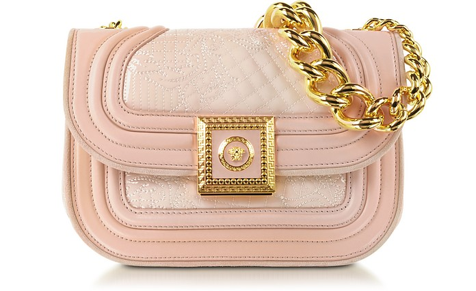 Powder Icon Quilted and Patent Leather Handbag - Versace