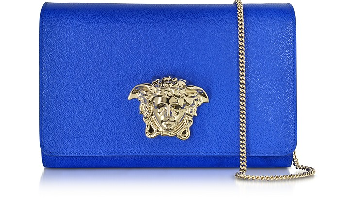 Palazzo Royal Blue Leather Crossbody - Versace