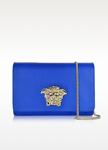 Palazzo Royal Blue Leather Crossbody - Versace