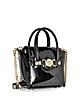 Black Patent Leather Signature Mini Bag - Versace