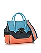 Small Palazzo Empire Color Block Leather Tote Bag - Versace
