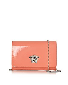 Flamingo Pink Patent Leather Palazzo Clutch with Medusa Head - Versace