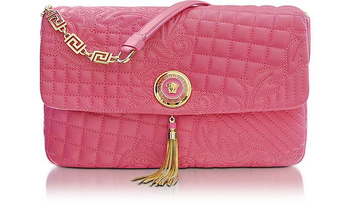 Vanitas Pink Quilted Leather Shoulder Bag - Versace