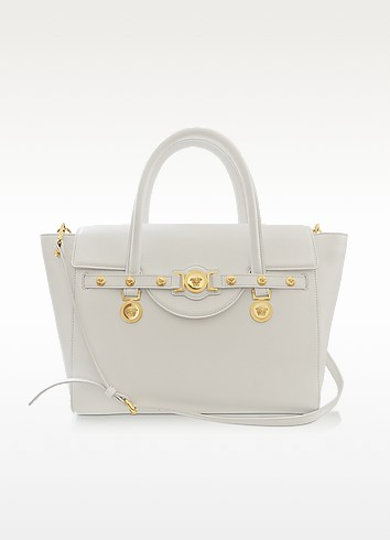 Large Signature Leather Tote - Versace