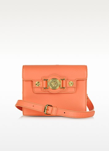 Leather Mini Messenger Bag - Versace