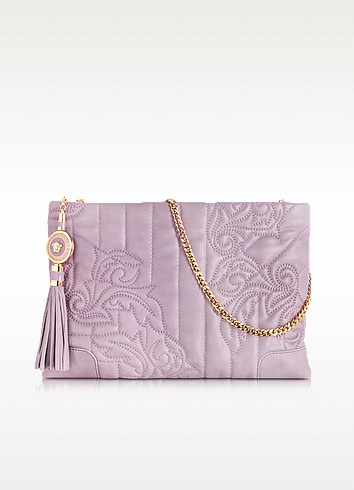 Vanitas Mauve Leather Shoulder Bag - Versace