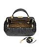 Vanitas Black Quilted Leather Satchel - Versace