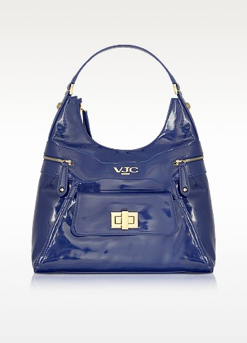 VJC - Patent Hobo Bag - Versace