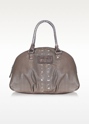 Jeans Couture -  Studded Bowler Bag - Versace
