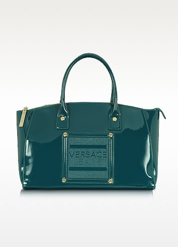Versace Jeans - Patent Eco Leather Satchel  - Versace