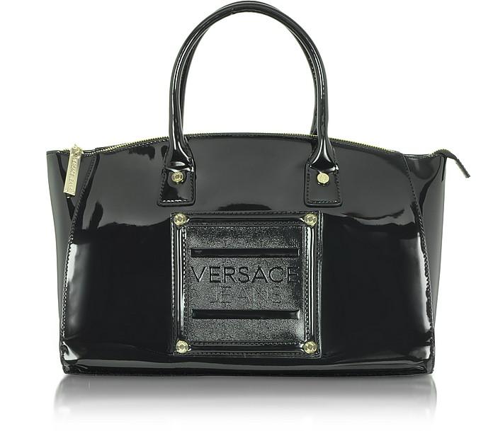 Versace Jeans - Patent Eco Leather Satchel  - Versace