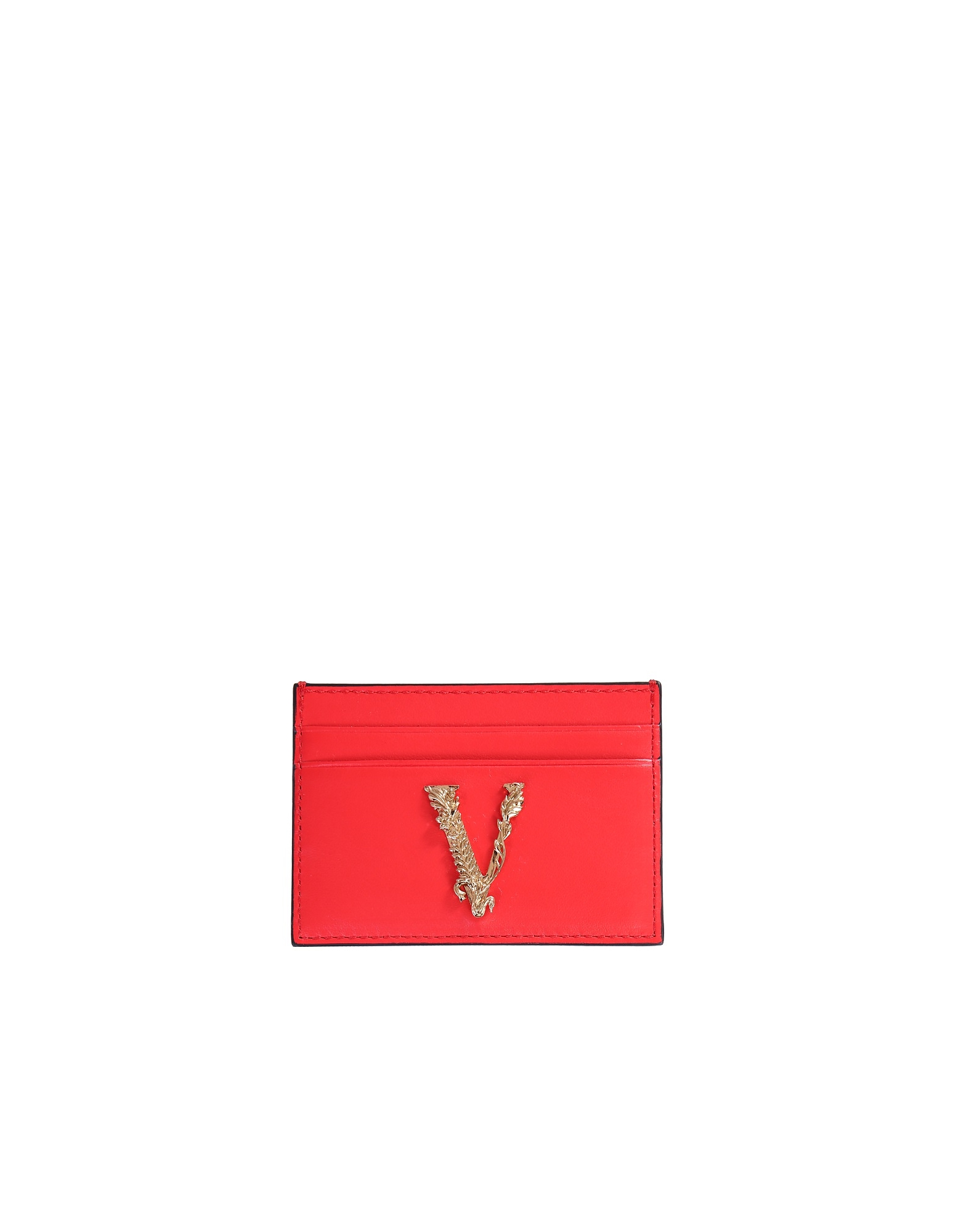 Versace Designer Wallets, Card Holder With Virtus Logo