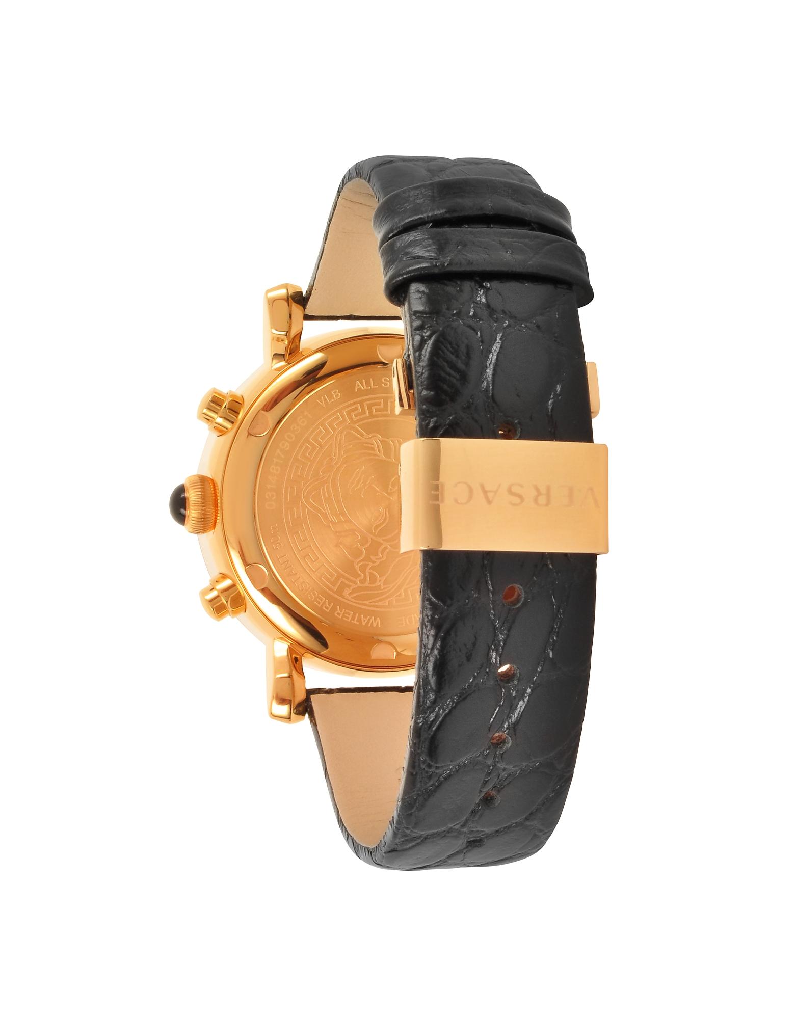 Фото Day Glam - Черные и Золотистые Женские Часы Хронограф. Купить с доставкой