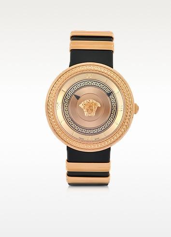 V Metal Icon Golden Women's Watch - Versace
