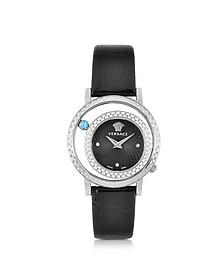 Venus Stainless Steel w/Chroco Patent Leather Strap Women's Watch - Versace