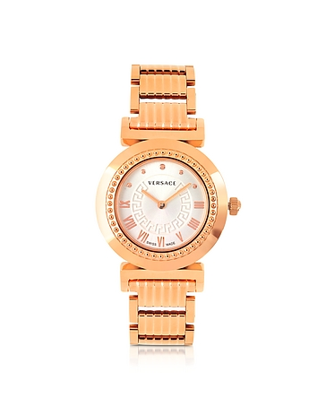 Versace - Vanity Lady Rose Gold Stainless Steel Women's Watch