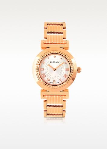 Vanity Lady Rose Gold Stainless Steel Women's Watch - Versace