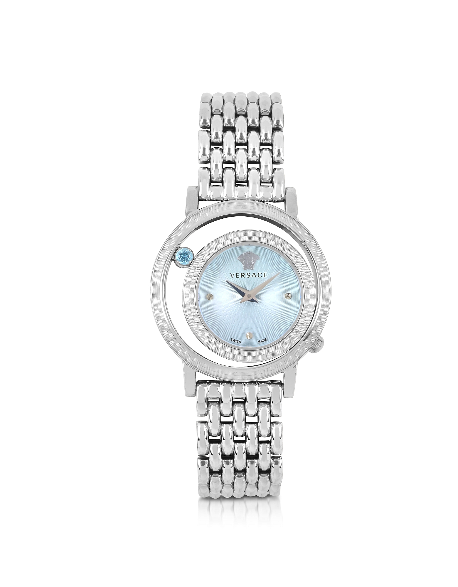 Venus - Женские Часы из Нержавеющей Стали с Голубым Циферблатом