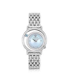 Venus Stainless Steel w/Light Blue Dial Women's Watch - Versace