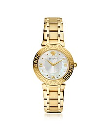 Daphnis PVD Gold Plated Women's Watch w/Greek Engraving - Versace