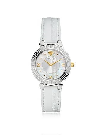 Versace - Daphnis White Women's Watch w/Greca Engraving