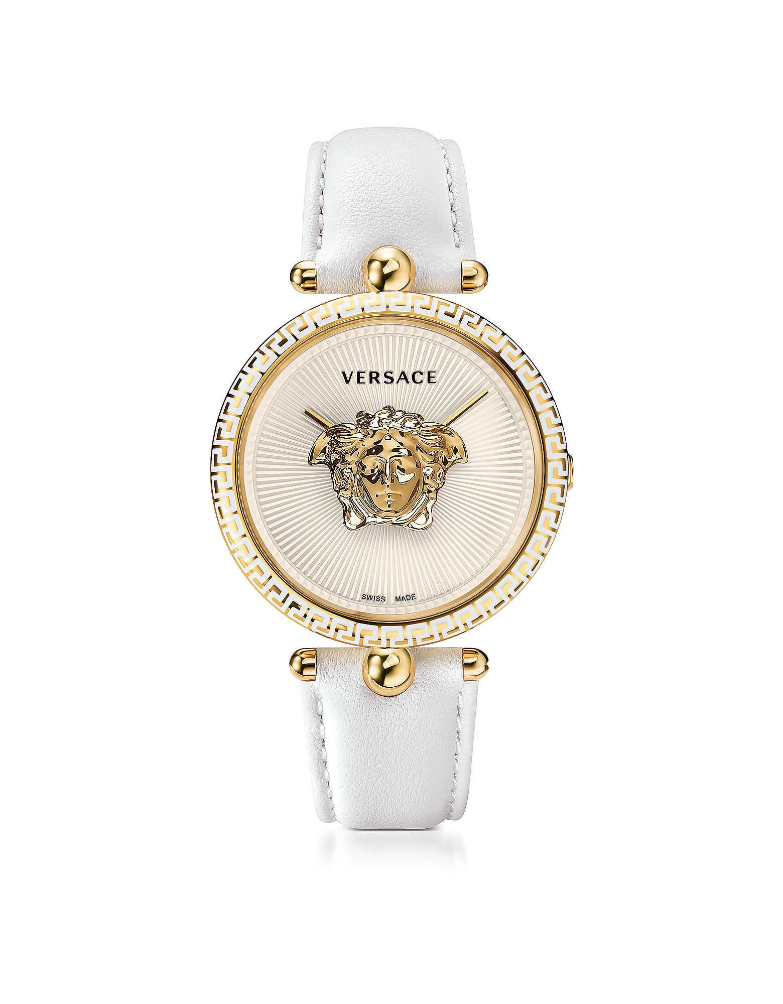 Versace Women's Watches, Palazzo Empire White and PVD Plated Gold Women's Watch w/3D Medusa