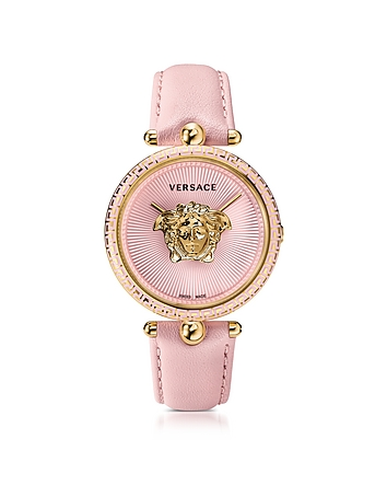 Versace - Palazzo Empire Pink and PVD Plated Gold Unisex Watch w/3D Medusa
