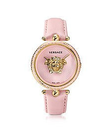 Palazzo Empire Pink and PVD Plated Gold Unisex Watch w/3D Medusa - Versace