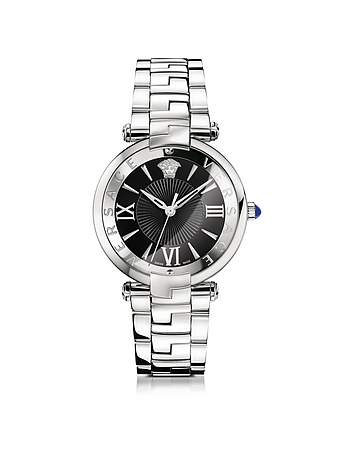 Revive 3H Stainless Steel Women's Watch w/Black Dial