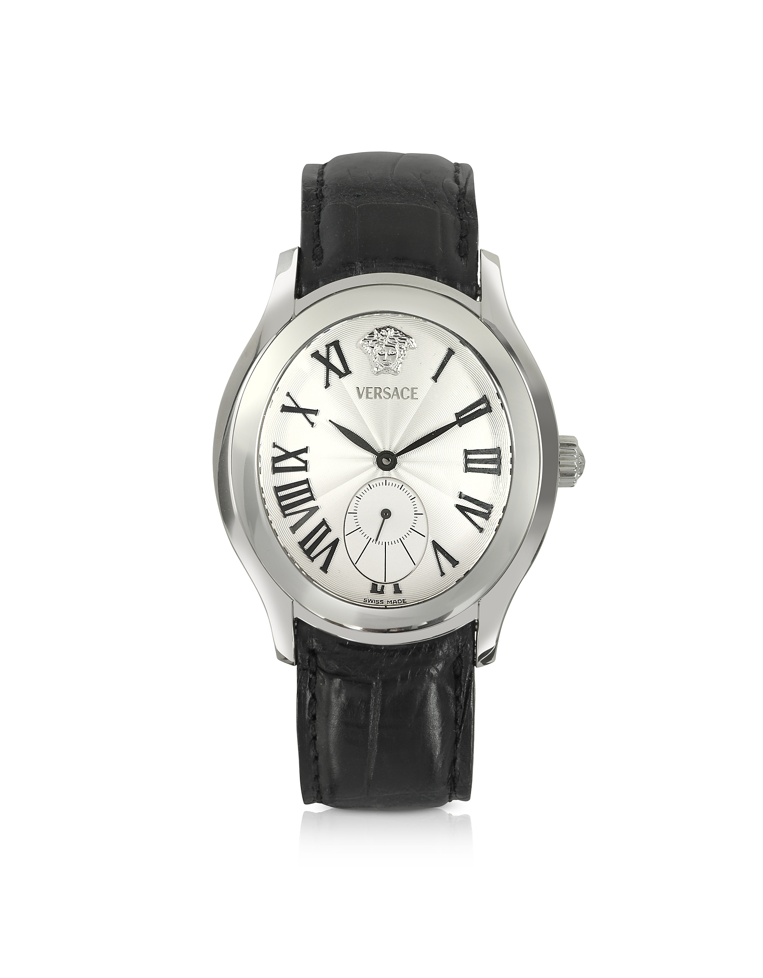 Versace Men's Watches, Bond Street -Men's Black Crocodile Leather Watch