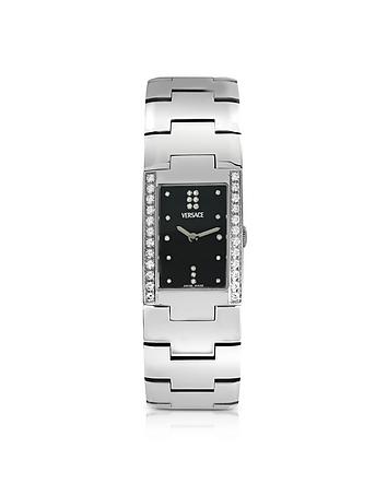 Greca - Ladies' Stainless Steel and Diamond
