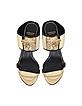Black Leather Heel Sandal - Versace
